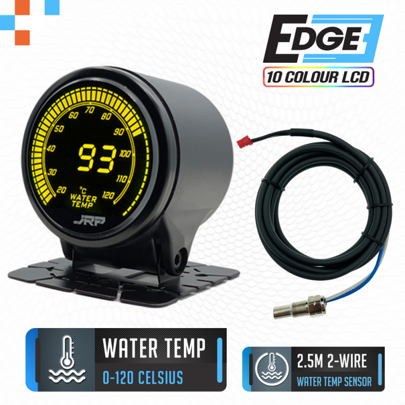 The just race parts edge 52mm digital water temp gauge & included accessories