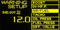Wideband Air Fuel Ratio Failsafe Setting