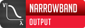 simulated narrowband output